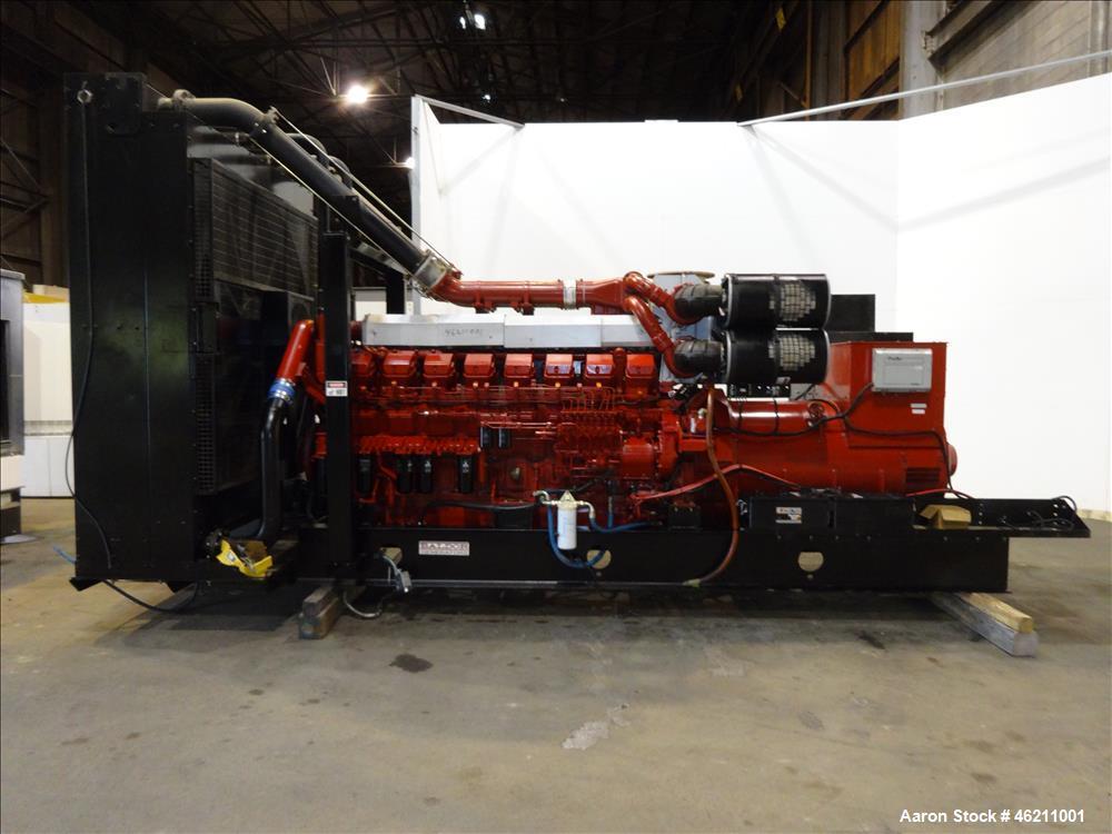 Used- Baldor 2000kW diesel generator. Mitsubishi model S16R-Y1PTAA2-1 engine.