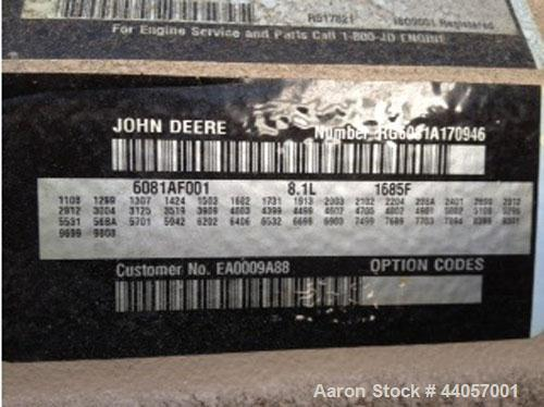 Used-Baldor 180kW Standby (165kW Prime) Diesel Generator Set, Model IDLC180-1J, Serial P0504040001. John Deere model 6081AF0...