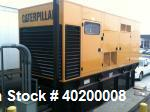 Used- Cat 800 kW standby diesel generator set.  Caterpillar model 3412 engine rated 1180 HP @ 1800 RPM, SN-1EZ08020. 3/60/27...