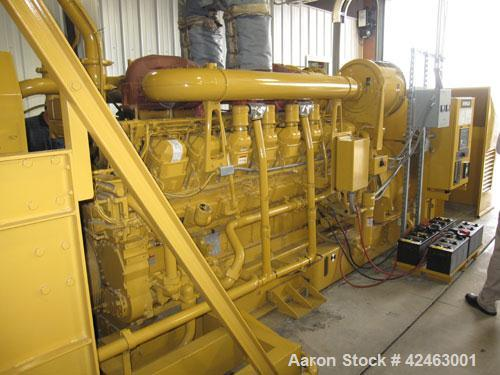 Used Caterpillar 2000 kW Standby /1825 kW Prime Diesel Generator Set. CAT 3516 engine rated 2876 hp @ 1800 rpm, serial #6NH0...