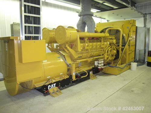 Used Caterpillar 2000 kW Standby / 1825 kW Prime Diesel Generator Set. CAT 3516 engine rated 2628 hp @ 1800 rpm, serial #1HZ...