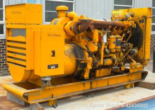 Used- Cat 285 kW Diesel Generator Set. Caterpillar model D343 engine, serial #62B15282, rated 415 hp @ 1800 rpm. 3/60/240-48...
