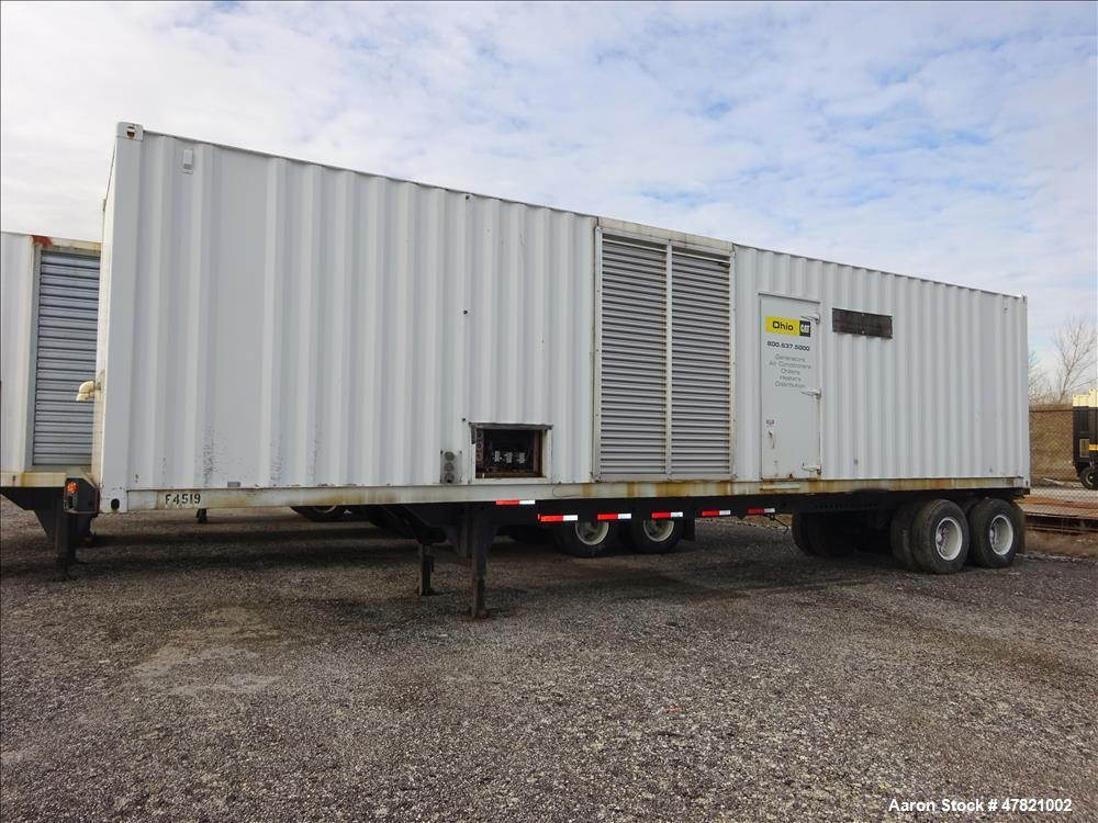 Used-Used-Cat XQ1750 rental grade 1750 kW  diesel generator set. CAT 3516B engin