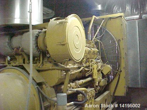 Used-CAT 1250 kW Standby Diesel Generator Set. Caterpillar model 3512 engine SN-24Z06091 rated 1818 HP @ 1800 RPM. 3/60/480V...
