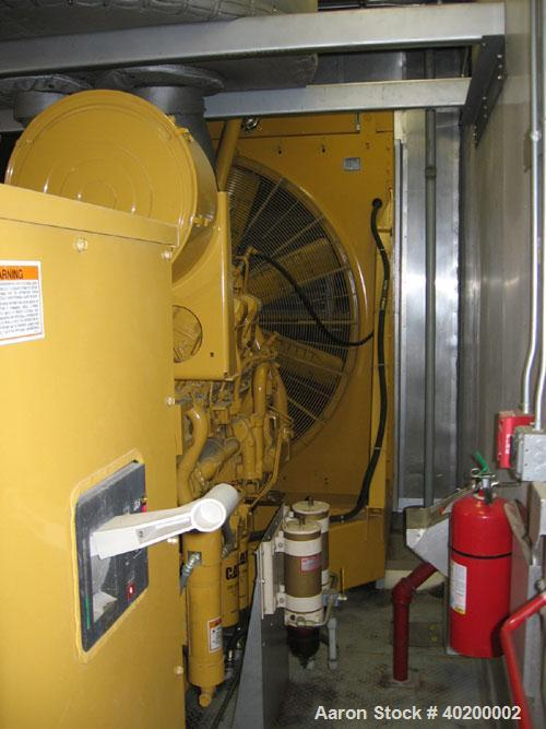 Used-CAT 1000 kW Diesel Generator Set. CAT 3508B engine, 3/60/480V. Mainline circuit breaker. Weather enclosure. 3200 gallon...