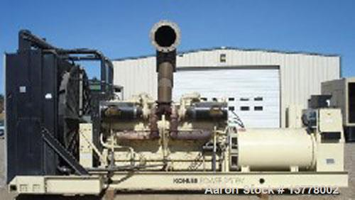 Used-Kohler / Detroit Diesel 1600 kW Generator Set. Standby rated at 1600 kW / 2000 kva, model 1600R0ZD. Detroit Diesel 16 c...