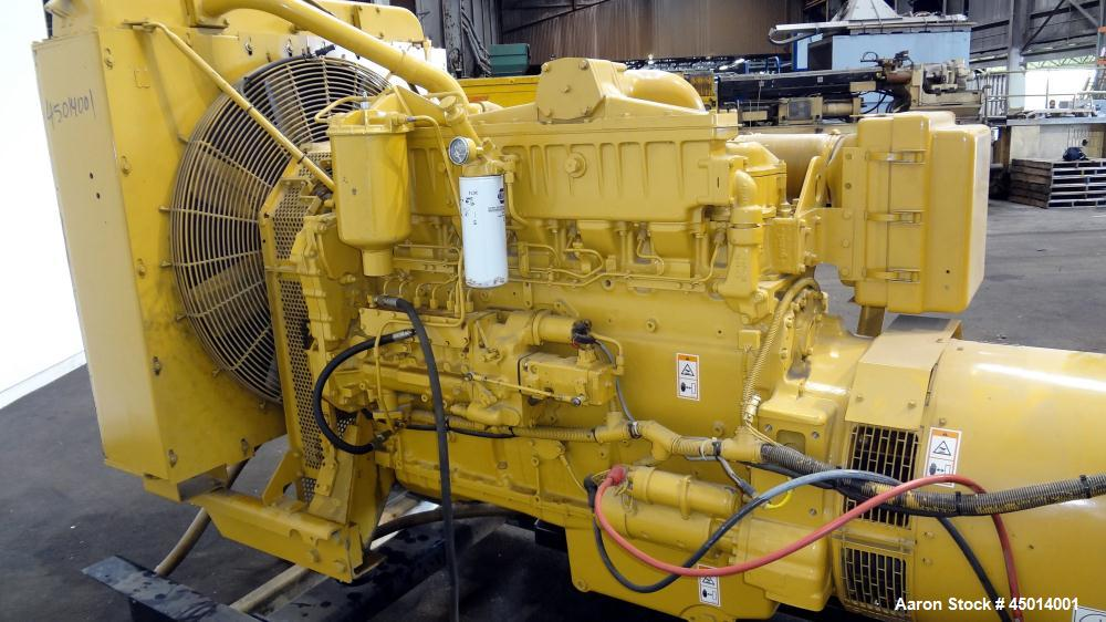 Used- Caterpillar 400 kW standby diesel generator set, SN-9DR04152. CAT model 3406 engine rated 587 HP @ 1800 RPM, SN-4ZR075...