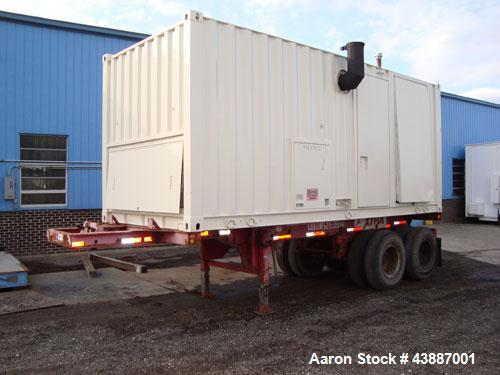Used- Caterpillar 800kW Standby (725kW prime) Portable Diesel Generator Set. CAT 3412 engine rated 1071 HP at 1800 RPM, SN-2...