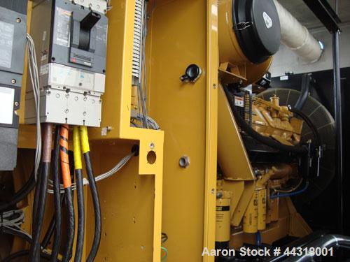 Used- CAT 600 kW standby diesel generator set, SN-AER00103, Caterpillar 3412 engine rated 896 HP at 1800 RPM, SN-3FZ02299. 3...
