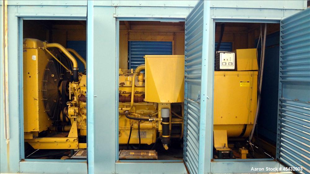 Used- Caterpillar 500 kW Standby Generator Set, CAT Model 3412