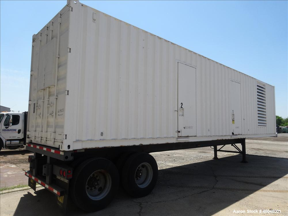 Used- Caterpillar 800 kW standby (725 kW prime) diesel generator set, portable / trailer mounted. Cat 3412 engine rated 1071...