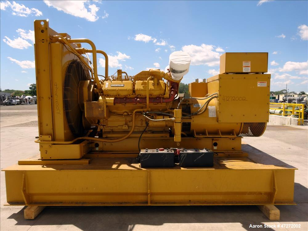 Used- Caterpillar 600 kW standby diesel generator. CAT 3412 engine