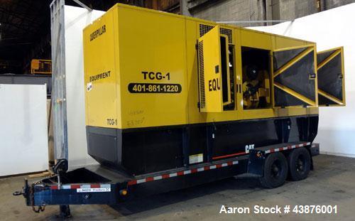 Used- Caterpillar 455 kW Prime Rated Diesel Generator Set, portable trailer. CAT unit serial #CER00613. Caterpillar 3456 eng...