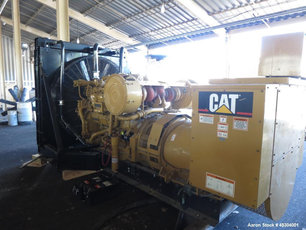 Used- Caterpillar 1000 kW diesel generator. CAT 3508B engine.