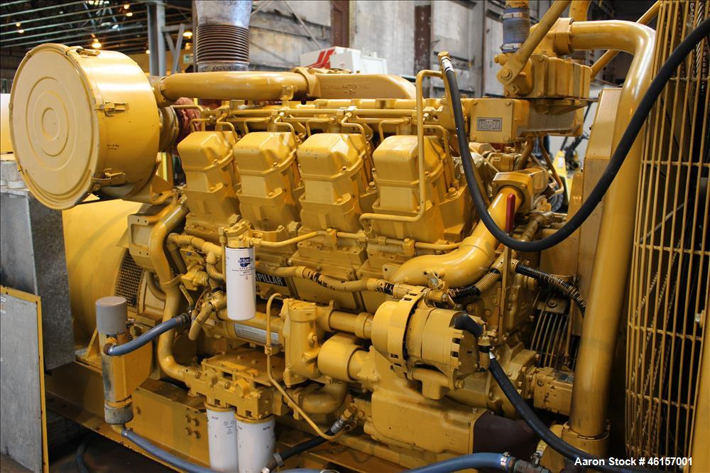 Used- Caterpillar 750 kW diesel generator. CAT 3508 engine.