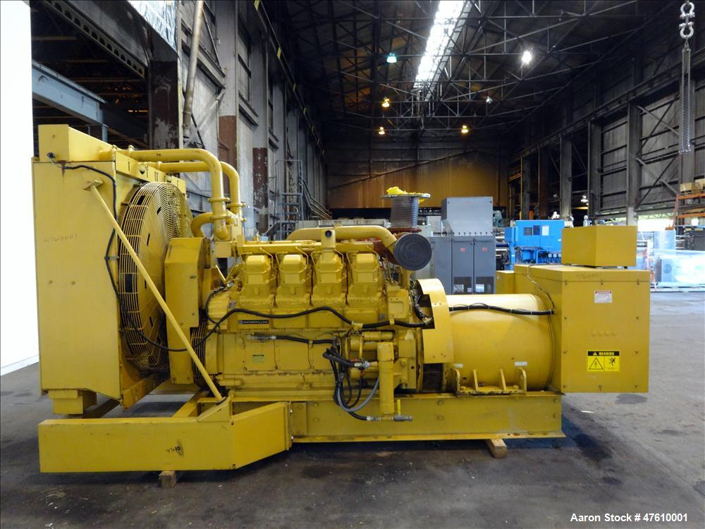 Used-Caterpillar 750 kW  diesel generator set. CAT 3508 engine.