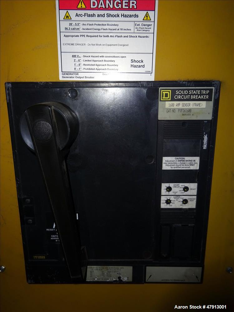 Used-Caterpillar 1000 kW diesel generator set. CAT 3508 engine