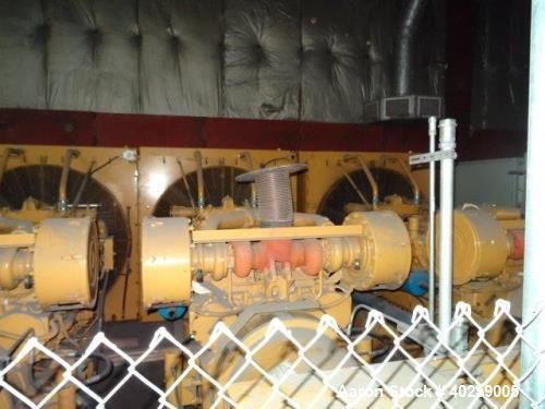 Used- CAT 1000 kW prime diesel generator. Caterpillar 3512 engine