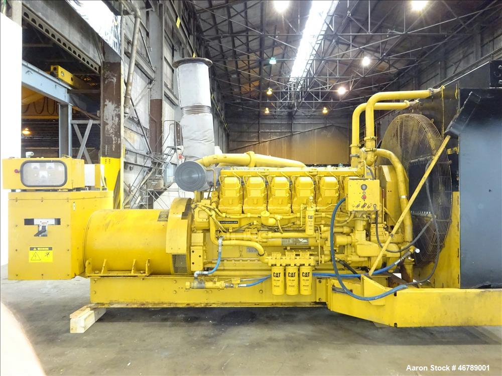 Used-Catepillar 1000 kW diesel generator set. CAT 3512 engine