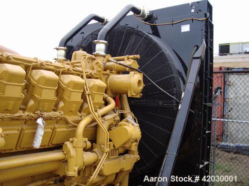 Used- Caterpillar 1250 kW Diesel Generator Set. CAT model 3512DITA diesel engine rated 1818 HP @ 1800 RPM SN-1KZ01076, arran...