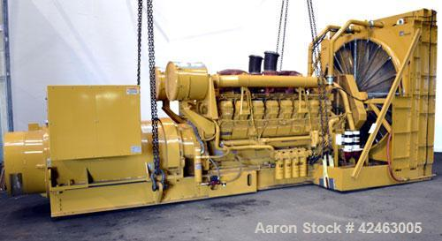 Used- CAT 13800V 2000 kW Standby /1825 kW Prime Diesel Generator Set. Caterpillar 3516 engine rated 2876 HP at 1800 RPM, SN-...