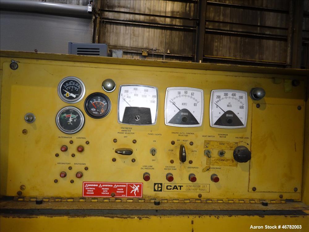 Used-Caterpillar 520 kW standby diesel generator set. CAT 3412 engine