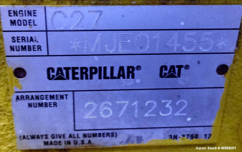 Unused Caterpillar 800 kW diesel generator set, CAT C27 engine EPA Tier 2 certif