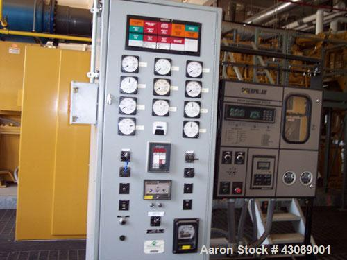 Used-Caterpillar Natural Gas Generator Set, 2300 kW, Model CA3612, Arg #AHK16, 2381 kW, 3193 hp, 900 rpm, compression ratio ...