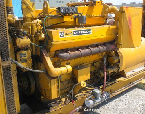 Used- CAT 500 kW Diesel Generator Set. Caterpillar model D348 engine, serial #36J1341, rated 805 hp @ 1800 rpm. Generator En...
