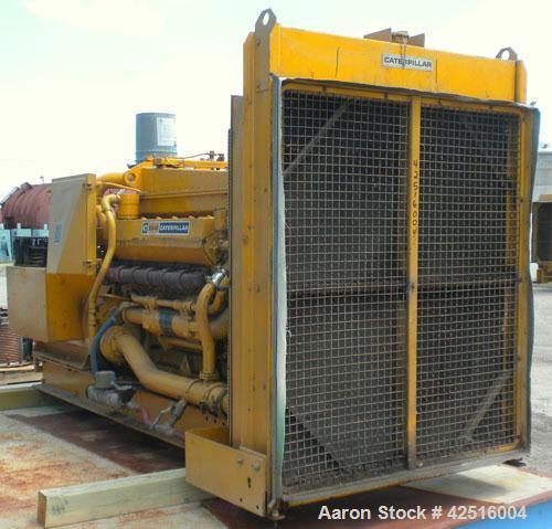 Used- CAT 500 kW Diesel Generator Set. Caterpillar model D348 engine, serial #36J1381, rated 805 hp @ 1800 rpm. Generator En...