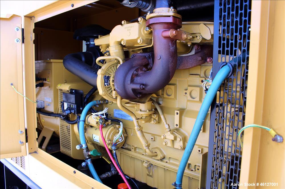 Used- Caterpillar / Olympian 75 kW standby (67.5 kW prime) diesel generator set, model D75P1S, SN-OLY00000ANPS01614. Perkins...