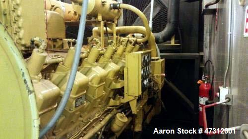 Used- CAT 800 kW Natural Gas Generator Set. CAT G3516 engine
