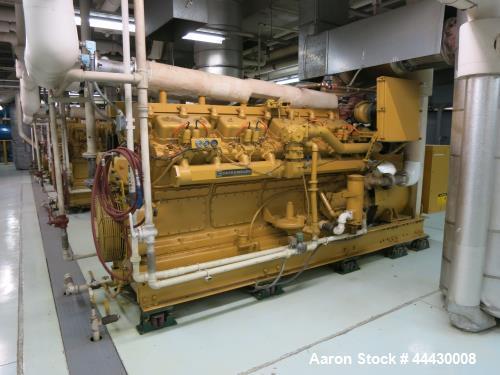 Used- Caterpillar 650 kW  natural gas generator. CAT G399 engine