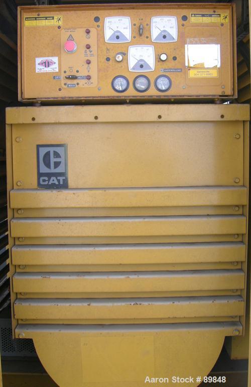 USED: Caterpillar 400 kW #2 diesel fuel oil generator set, model SR-4. 3 phase, 60 cycle, 500 kva.