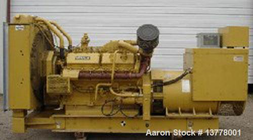 Used-Cat 600 kW Diesel Generator Set. Standby rated at 600 kW / 750 kva. Currently set up for 277/480 volts, 3 phase, 60 her...