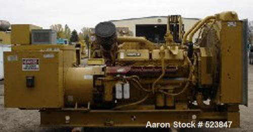 USED: Cat 600 kW diesel generator set, model SR-4B. Standby rated at600 kW/750 kva. Currently set up for 277/480 volts, 3 ph...