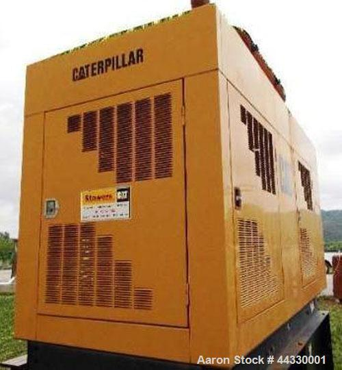 Used- Caterpillar 350 kW Standby Diesel Generator Set, CAT 3406 engine rated 519 hp @ 1800 rpm, serial #4ZR04681. 3/60/277/4...