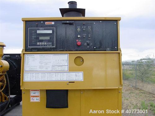 Used-Cat diesel generator set, 800 kW standby, 725 kW prime rating,Cat 3412 engine. 3/60/277-480V. 1000 amp breaker. 2560 ho...