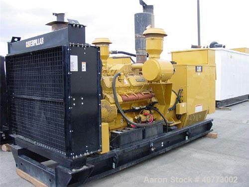Used-Cat diesel generator set, 600 kW standby, 545 kW prime rating, 3/60/277-480V. Cat 3412 engine. 800 amp breaker. 2510 ho...