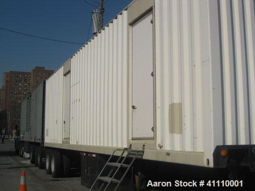 Used-CAT 1250 kW power module.3/60/277-480V.CAT model 3512 DITA engine, SR-4B generator end.Mounted in a portable 40' 2-axle...