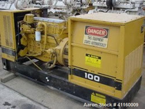 Used-Cat 100 kW Diesel Generator Set. 3/60/277-480V. Cat model 3116DIT engine. 12 lead gen end, 175 amp breaker. 2381 hours.