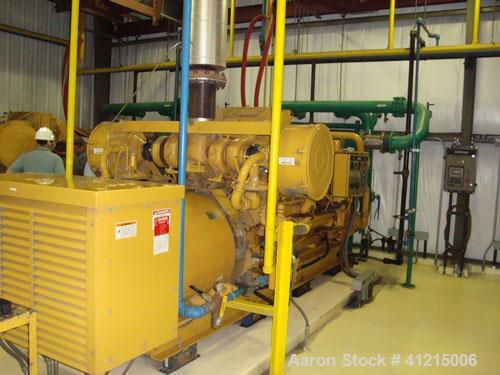 Used-Power Plant consisting of (6) CAT G3516 low emmission natural gas fueled generator sets, 3/60/4160V, 1200 rpm. Each is ...