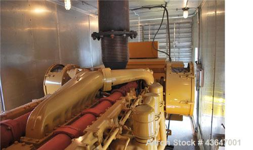 Used-1250 kW Caterpillar Generator Set, 3512 DITA engine, 1250 kW.  Mounted in 40' enclosure on a base tank with switchgear....