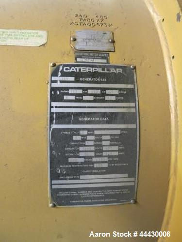 Used- Caterpillar 650 kW  natural gas generator. CAT G399 engine