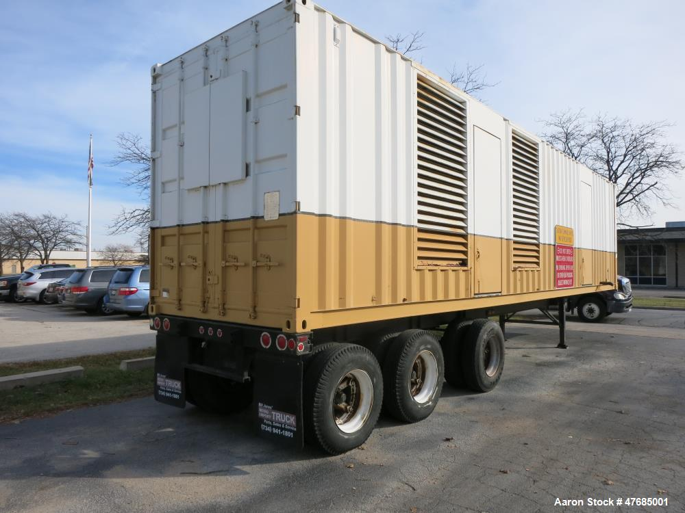 Used-Caterpillar 2000 kW portable / trailered diesel generator. CAT 3516 engine