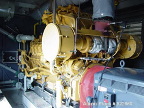 USED: Cat G3516 natural gas 1400 kw, 3/60/4160V, induction generatorset. Built in 2003. Engine power 1818 hp. Fuel gas press...