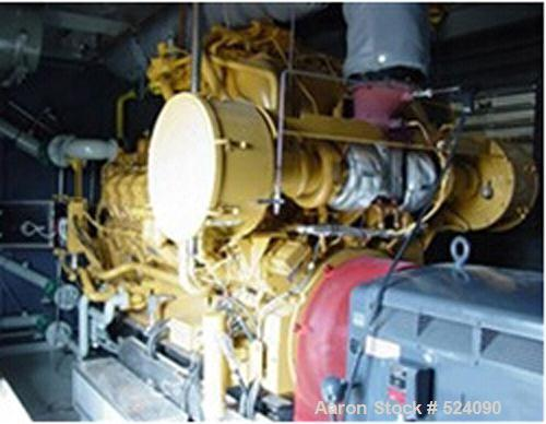 USED: Cat G3516 1400 kW natural gas induction generator set, 3/60/4160V. Engine power 1818 hp. Fuel gas pressure 1.5-5.0 psi...