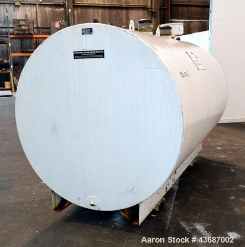 Used- Certified Tank & Mfg Double Wall UL142 Fuel Storage Tank, 1500 Gallon, Carbon Steel. Built 2000.
