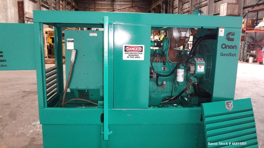 Used- Cummins 100 kW Standby (90kW prime) Diesel Generator Set, Model 100DGDB, SN-J960620928.  Cummins 6TB5.9-G2 engine rate...