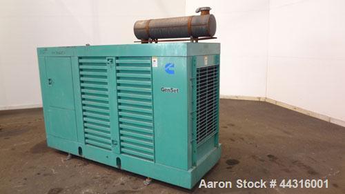 Used- Cummins Onan 100kW Standby Natural Gas Generator Set. Cummins model 100ENBA, SN-K960622806. Ford LSG-8751- 6005-A engi...